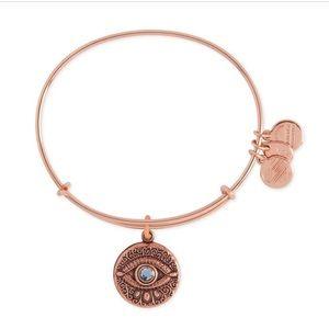 Alex & Ani Evil Eye Expandable Rose Gold Bracelet